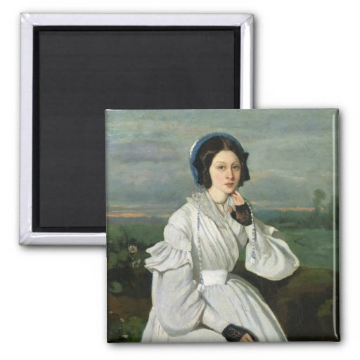 Portrait of Louise Claire Sennegon Refrigerator Magnets