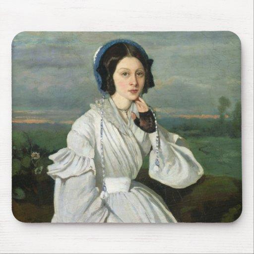 Portrait of Louise Claire Sennegon Mouse Pads