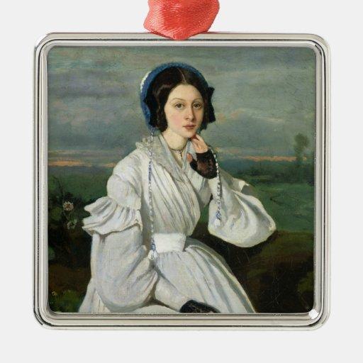 Portrait of Louise Claire Sennegon Ornaments