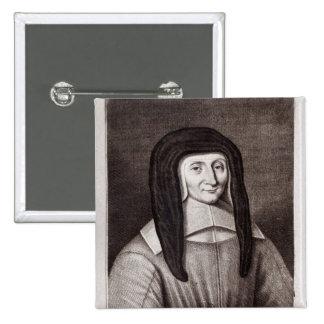 Portrait of Louise de Marillac 2 Inch Square Button