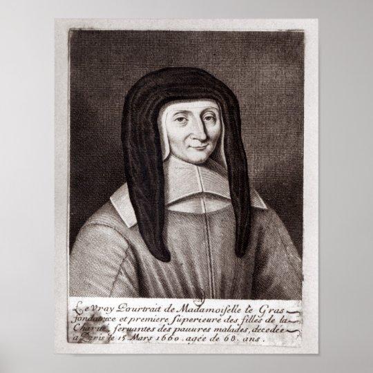 Portrait of Louise de Marillac Poster