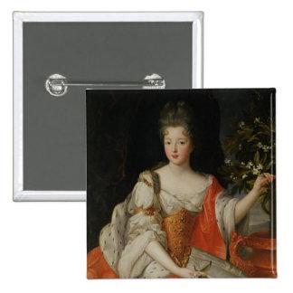 Portrait of Louise-Francoise de Bourbon 2 Inch Square Button