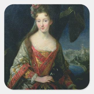 Portrait of Louise-Hippolyte (1687-1731), Princess Square Sticker