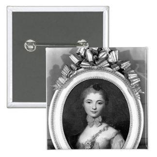 Portrait of Louise Honorine Crozat du Chatel 2 Inch Square Button