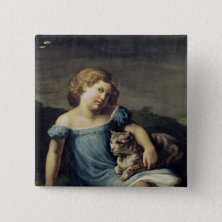 Portrait of Louise Vernet as a Child, 1818-19 Pinback Button