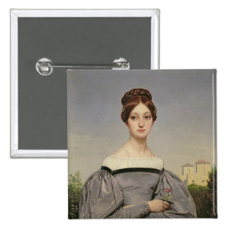 Portrait of Louise Vernet  Daughter of the 2 Inch Square Button