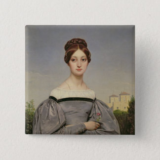 Portrait of Louise Vernet  Daughter of the Pinback Button