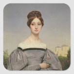 Portrait of Louise Vernet  Daughter of the Square Sticker