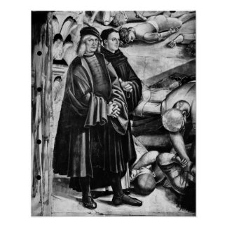 Portrait of Luca Signorelli and Fra Angelico Poster