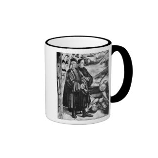 Portrait of Luca Signorelli and Fra Angelico Ringer Mug