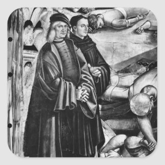 Portrait of Luca Signorelli and Fra Angelico Square Sticker