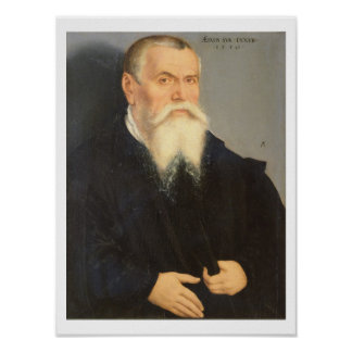 Portrait of Lucas Cranach the Elder (1472-1553) 15 Poster