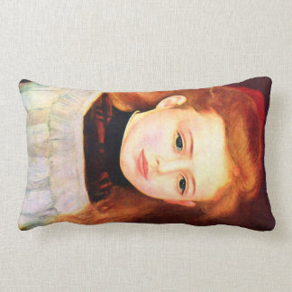 Portrait of Lucie Berard by Pierre Renoir Throw Pillows