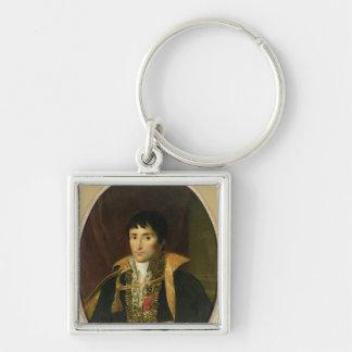 Portrait of Lucien Bonaparte Silver-Colored Square Keychain