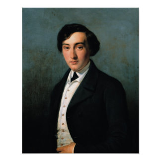 Portrait of Lucien Petipa  1849 Poster