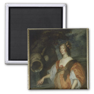Portrait of Lucy Percy, Countess of Carlisle 2 Inch Square Magnet