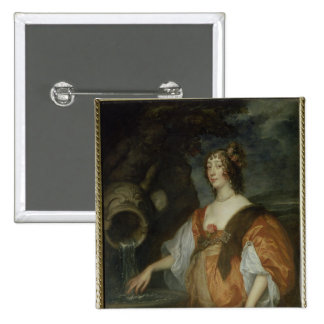 Portrait of Lucy Percy, Countess of Carlisle Pinback Button