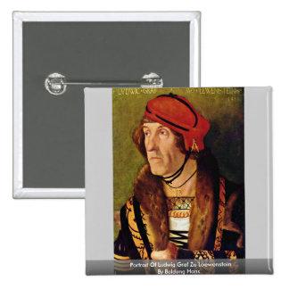 Portrait Of Ludwig Graf Zu Loewenstein Buttons