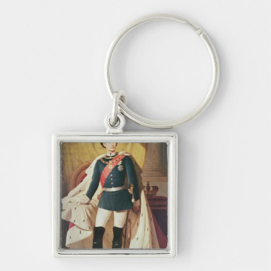 Portrait of Ludwig II of Bavaria in uniform Keychain