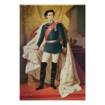 Portrait of Ludwig II of Bavaria in uniform Posters