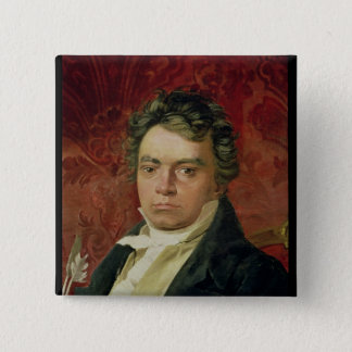 Portrait of Ludwig Van Beethoven Button