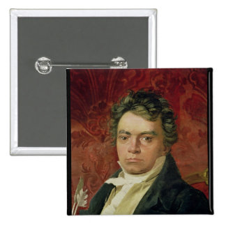 Portrait of Ludwig Van Beethoven Button