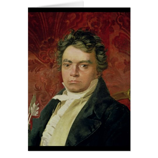 Portrait of Ludwig Van Beethoven Card