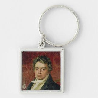 Portrait of Ludwig Van Beethoven Key Chain