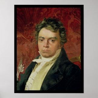Portrait of Ludwig Van Beethoven Poster