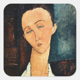 Portrait of Lunia Czechowska, 1918 Square Sticker
