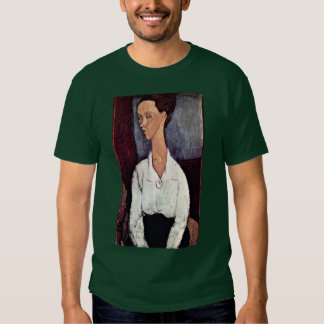 Portrait Of Lunia Czechowska With A White Blouse Tshirt