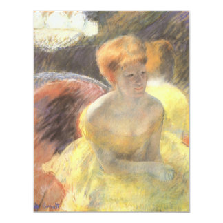 Portrait of Lydia at the Opera by Mary Cassatt 4.25x5.5 Paper Invitation Card