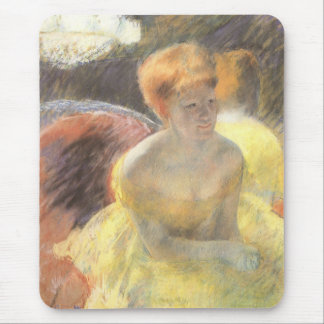 Portrait of Lydia at the Opera by Mary Cassatt Mouse Pad