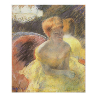 Portrait of Lydia at the Opera by Mary Cassatt Poster