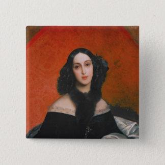 Portrait of M.A. Bek, 1840 Pinback Button