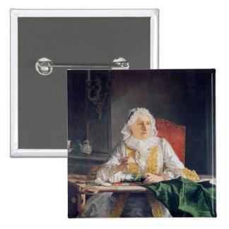Portrait of Madame Antoine Crozat, 1741 Pinback Button