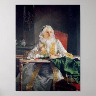 Portrait of Madame Antoine Crozat, 1741 Poster