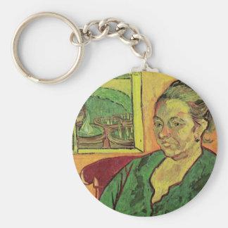 Portrait of Madame Augustine Roulin by van Gogh Keychain