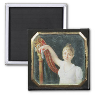 Portrait of Madame Beaumont 2 Inch Square Magnet