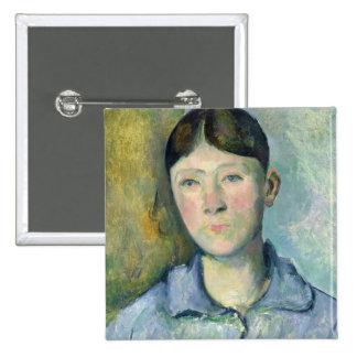 Portrait of Madame Cezanne, 1885-90 Button