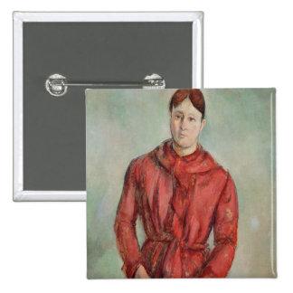 Portrait of Madame Cezanne Button