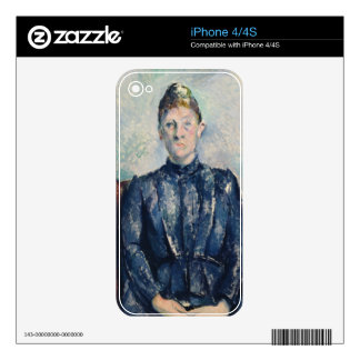 Portrait of Madame Cezanne, c.1890 (oil on canvas) Skin For The iPhone 4S
