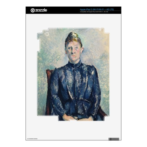 Portrait of Madame Cezanne, c.1890 (oil on canvas) iPad 3 Skin