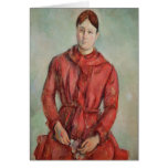 Portrait of Madame Cezanne Greeting Card