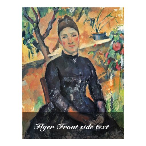 """Portrait Of Madame Cezanne In The Greenhouse 8.5"""" X 11"""" Flyer"""