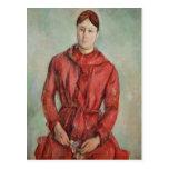 Portrait of Madame Cezanne Postcard
