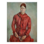 Portrait of Madame Cezanne Print