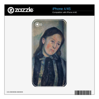 Portrait of Madame Cezanne with Loosened Hair, 189 iPhone 4 Skins