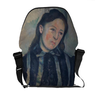 Portrait of Madame Cezanne with Loosened Hair, 189 Messenger Bag