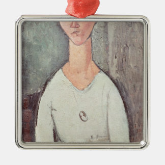 Portrait of Madame Chakowska, 1917 Metal Ornament